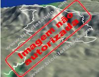 Imagem 3D com exemplo de trilho sobre a serra de sintra