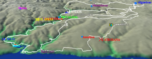 foz do lizandro mapa Bicicletando por Todos os Trilhos   A Foz do Lizandro foz do lizandro mapa
